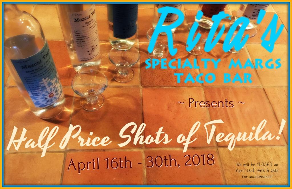 Ritas HPS Tequila April 2018